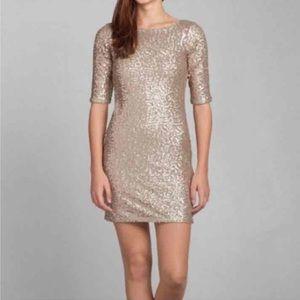 Abercrombie Gold Sequin Dress